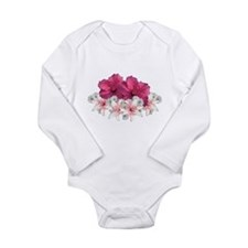 Hibiscus Arrangement Long Sleeve Infant Bodysuit