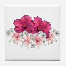 Hibiscus Arrangement Tile Coaster
