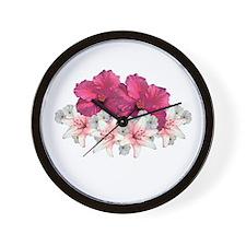 Hibiscus Arrangement Wall Clock