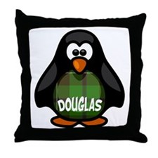 Douglas Tartan Penguin Throw Pillow