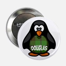 "Douglas Tartan Penguin 2.25"" Button"