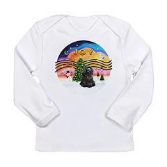 XMusic2-Black Cocker Long Sleeve Infant T-Shirt