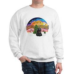XMusic2-Black Cocker Sweatshirt