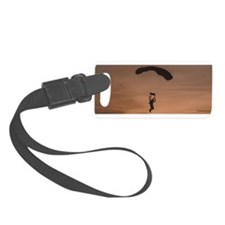Sunset Skydiver Luggage Tag