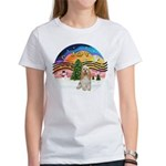 XMusic2-Cocker Spaniel (buff) Women's T-Shirt