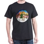 XMusic2-Cocker Spaniel (buff) Dark T-Shirt