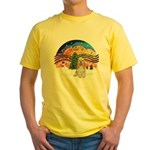XMusic2-Cocker Spaniel (buff) Yellow T-Shirt