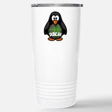 Duncan Tartan Penguin Stainless Steel Travel Mug