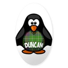 Duncan Tartan Penguin Decal