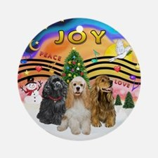 XMusic2-Three Cocker Spaniels Ornament (Round)