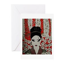 oriental red Greeting Cards (Pk of 20)