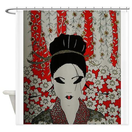 oriental red Shower Curtain