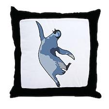 Penguin jump Throw Pillow