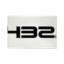 432 Hertz Rectangle Magnet
