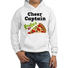 Cheer Captain Funny Pizza Hoodie