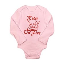 Rita On Fire Long Sleeve Infant Bodysuit