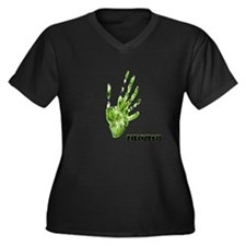 paranormal Women's Plus Size V-Neck Dark T-Shirt