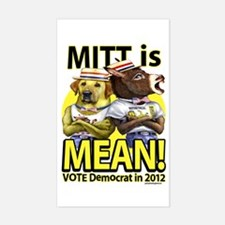 Mitt is Mean Sticker (Rectangle)