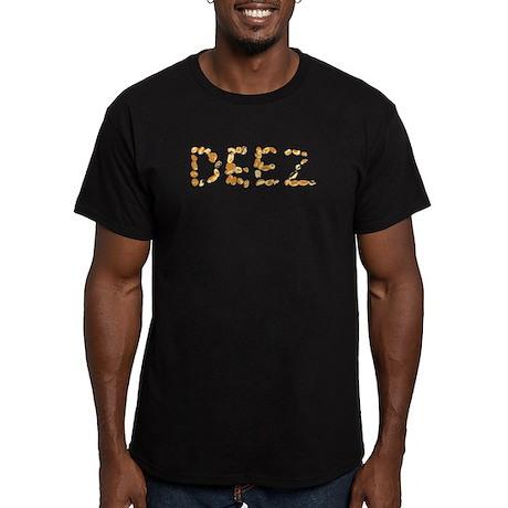 DEEZ Nuts Men's Fitted T-Shirt (dark)