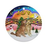 XMusic2-Two Goldens Ornament (Round)