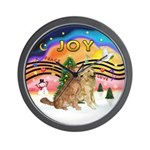 XMusic2-Two Goldens Wall Clock
