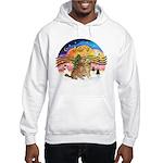 XMusic2-Two Goldens Hooded Sweatshirt