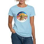 XMusic2-Two Goldens Women's Light T-Shirt