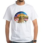 XMusic2-Two Goldens White T-Shirt