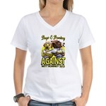 Dogs and Donkey Women's V-Neck T-Shirt