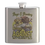 Dogs and Donkey Flask