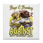 Dogs and Donkey Tile Coaster