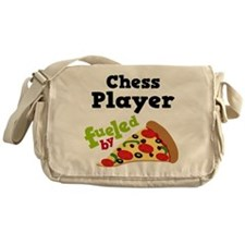 Chess Player Funny Pizza Messenger Bag