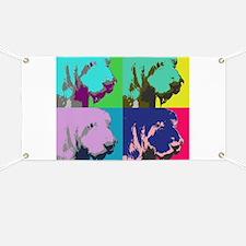 Spinone Italiano Pop Art Banner