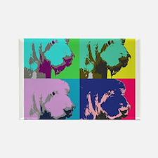 Spinone Italiano Pop Art Rectangle Magnet