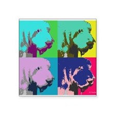 "Spinone Italiano Pop Art Square Sticker 3"" x 3"""