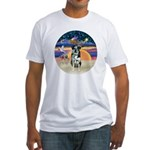 XAngel-Catahoula Leop. Fitted T-Shirt