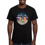XAngel-Catahoula Leop. Men's Fitted T-Shirt (dark)