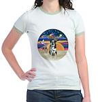 XAngel-Catahoula Leop. Jr. Ringer T-Shirt