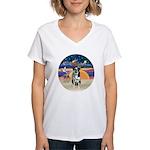 XAngel-Catahoula Leop. Women's V-Neck T-Shirt
