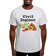 Civil Engineer Funny Pizza T-Shirt