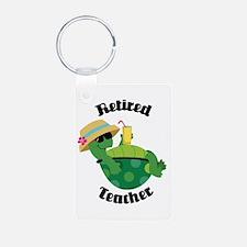 Retired Librarian turtle Aluminum Photo Keychain