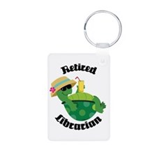 Retired Librarian turtle Keychains