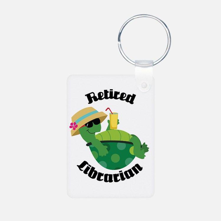 Retired Librarian turtle Keychains
