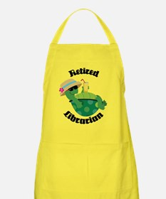 Retired Librarian turtle Apron