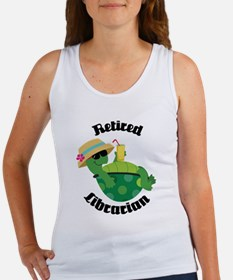 Retired Librarian turtle Women's Tank Top