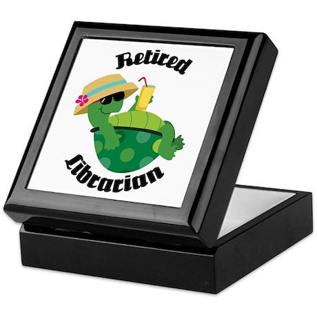 Retired Librarian turtle Keepsake Box