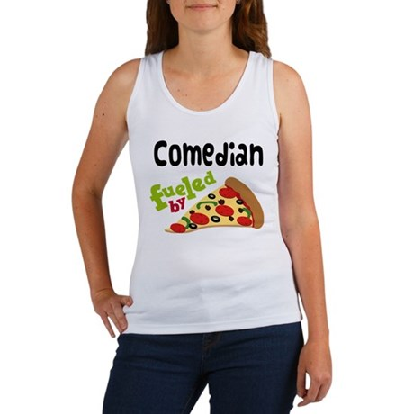 Comedian Funny Pizza Women's Tank Top