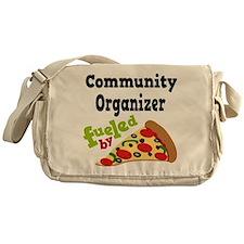 Community Organizer Funny Pizza Messenger Bag