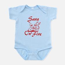 Sara On Fire Infant Bodysuit