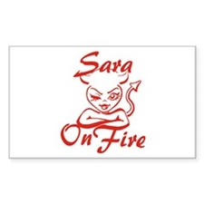 Sara On Fire Decal